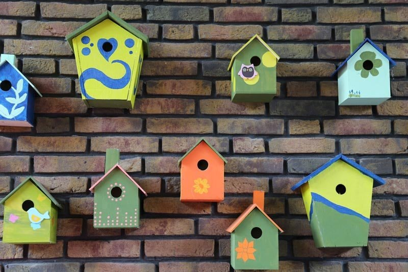 Boswijk - vogelhuisjes